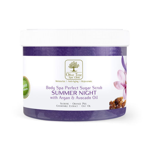 cb83147944010 Perfect Sugar Scrub Summer Night 450g – Olive Tree Spa Clinic
